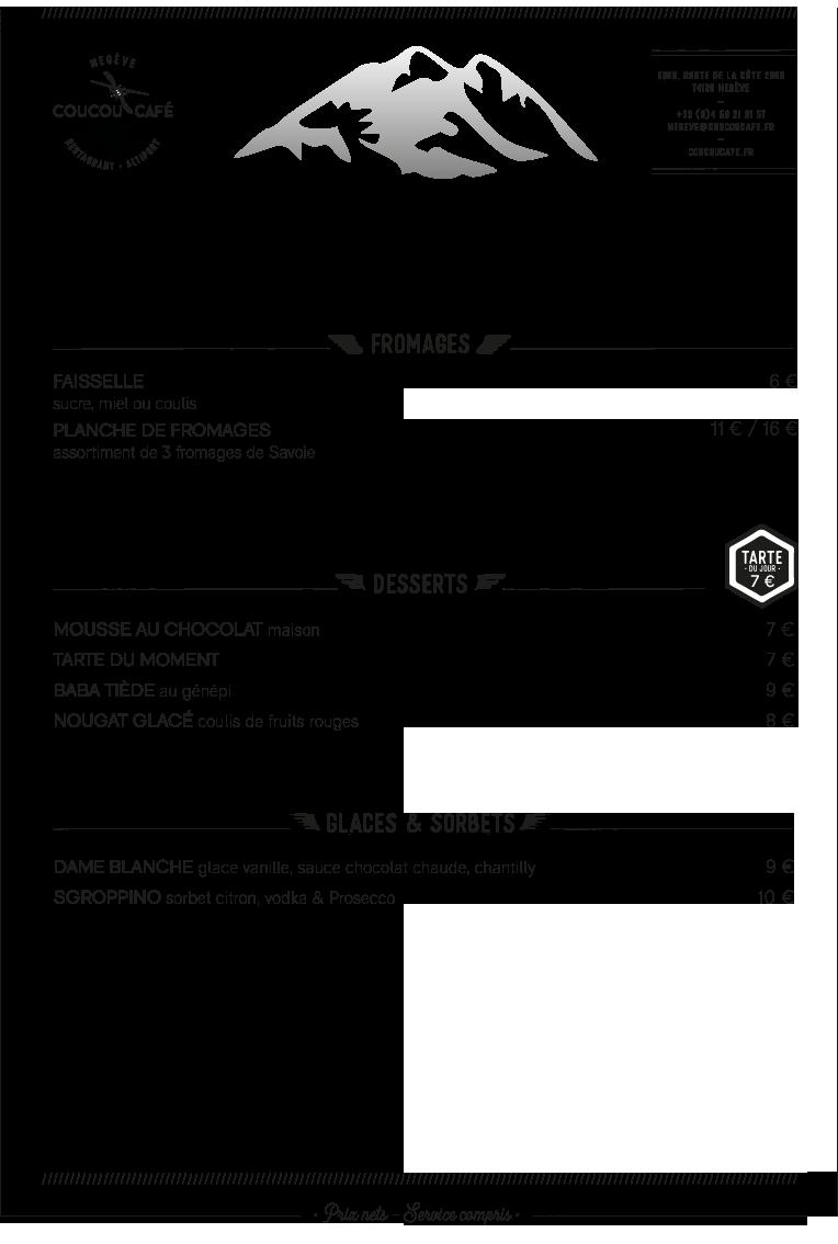 Carte Déjeuner Coucou Café Hiver 2019-2020