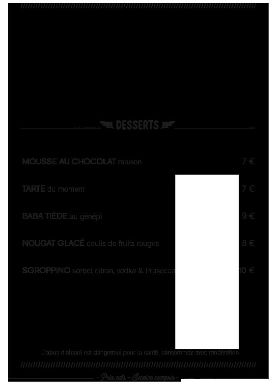 Carte Dîner Coucou Café Hiver 2019-2020